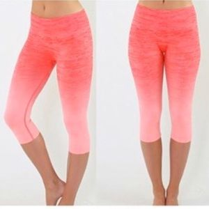 Pants - Brand New Coral and Pink Ombré Leggings